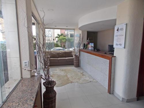 The lobby or reception area at Ara Mar Praia Hotel