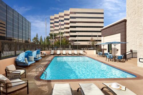 The swimming pool at or near Hilton Pasadena