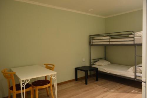 Våningssäng eller våningssängar i ett rum på Holidayhostel