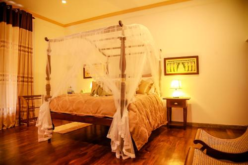 A bed or beds in a room at Morning Star