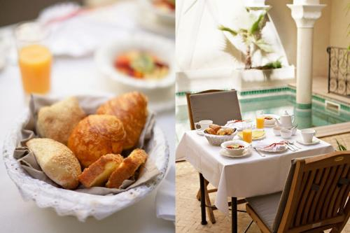 Breakfast options available to guests at Riad La Villa Marrakech