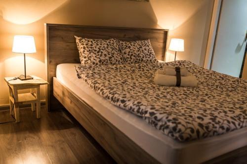 Krevet ili kreveti u jedinici u okviru objekta Top Apartment