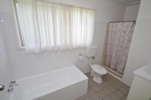 A bathroom at Billy's on Main, 44 Main Street