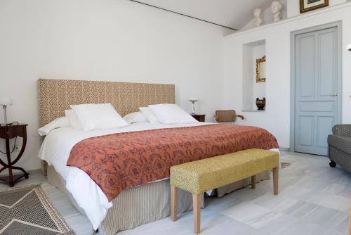 Cama o camas de una habitación en Palacio Mármoles