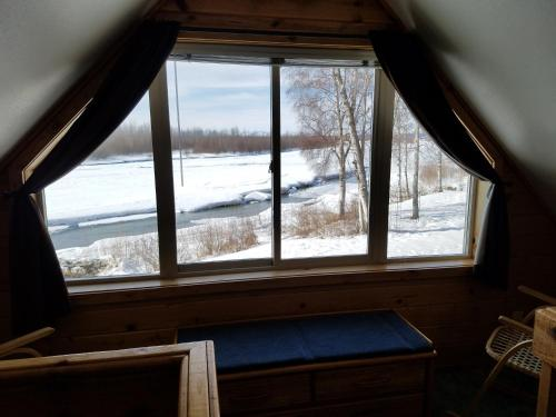 Susitna River Cabins during the winter