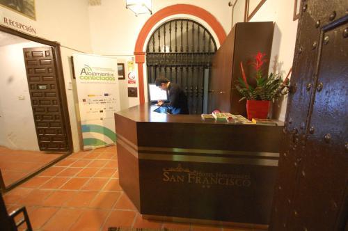 El vestíbulo o zona de recepción de Hotel Hospederia San Francisco
