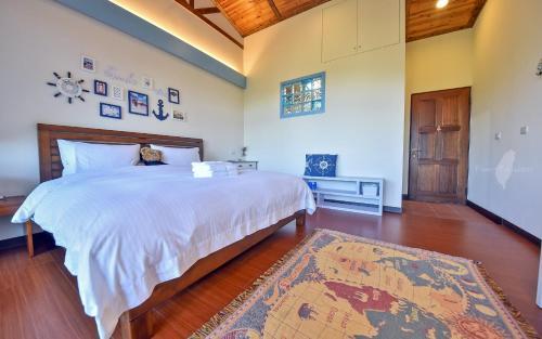 山田民宿房間的床