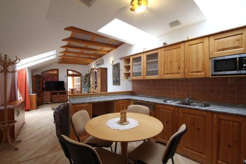 Kuchyň nebo kuchyňský kout v ubytování Penzion SURF