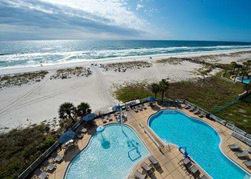 A view of the pool at SpringHill Suites by Marriott Pensacola Beach or nearby