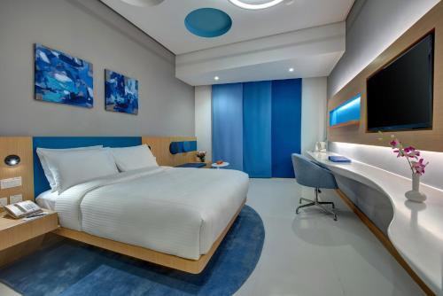 Cama o camas de una habitación en Al Khoory Inn Bur Dubai