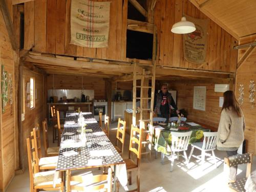 A restaurant or other place to eat at Moulin de Chantegrolle