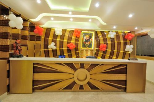 The lobby or reception area at The Gold Inn Paharganj