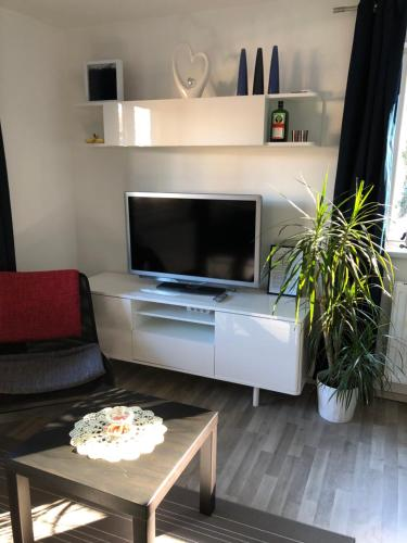 A television and/or entertainment center at Apartment Gisi