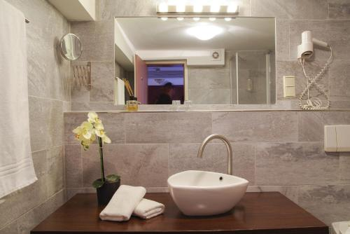 Ein Badezimmer in der Unterkunft Hotel Restaurant Anno 1617