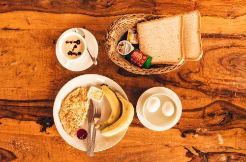 Options de petit-déjeuner proposées aux clients de l'établissement Zostel Udaipur