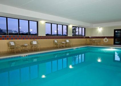 The swimming pool at or near Hampton Inn & Suites Madisonville