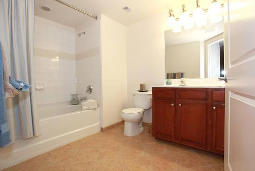 A bathroom at National at Thomas Circle