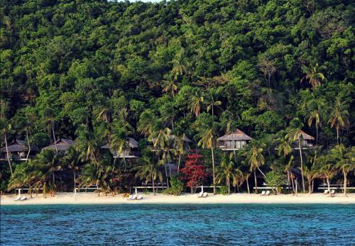 The swimming pool at or near El Nido Resorts Pangulasian Island