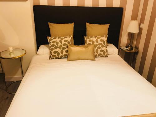 Cama o camas de una habitación en Apartamento Gran Via Callao