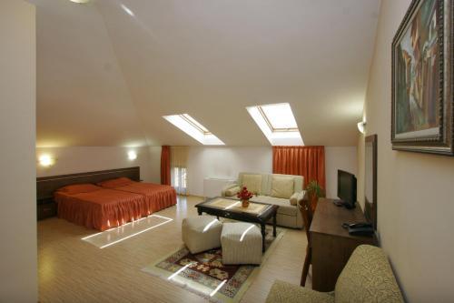 Кът за сядане в Хотел Алафрангите