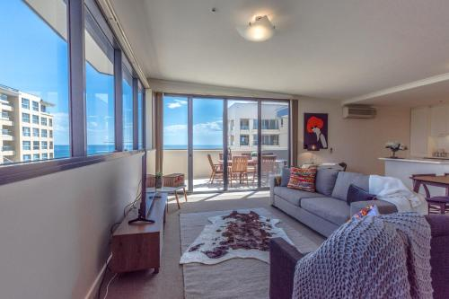 A seating area at Lights Landing Penthouse