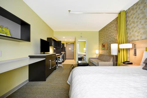 A television and/or entertainment center at Home2 Suites By Hilton Rock Hill