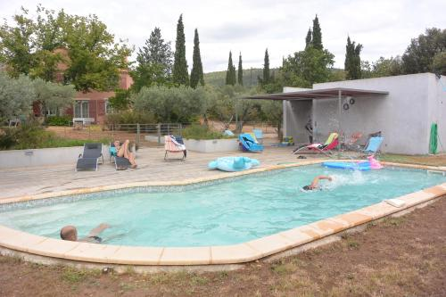 The swimming pool at or near Bastide des ribias