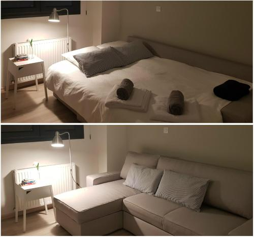 A bed or beds in a room at Nicosia Center Cozy Short Stays