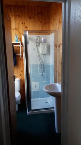 A bathroom at Victoria Inn