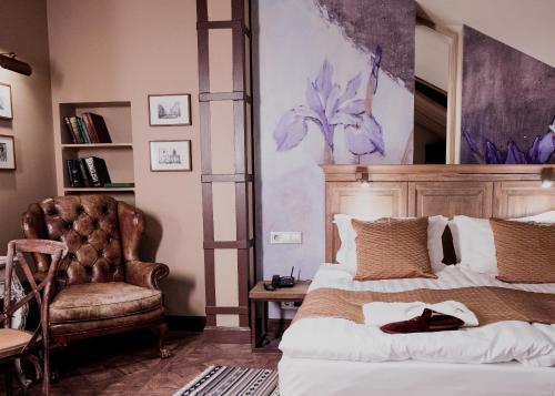 Кровать или кровати в номере Бутик Отель Арбат 6