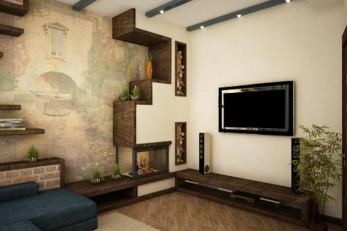A television and/or entertainment center at Guest house at 9 Proseka