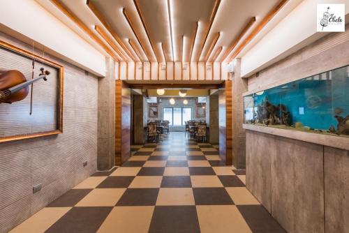 O saguão ou recepção de Hotel Panamericano