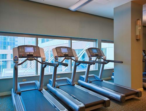 Das Fitnesscenter und/oder die Fitnesseinrichtungen in der Unterkunft Hyatt Regency Trinidad