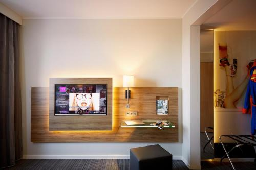 A television and/or entertainment center at Moxy Milan Linate