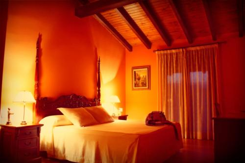 Cama o camas de una habitación en Alcor del Roble