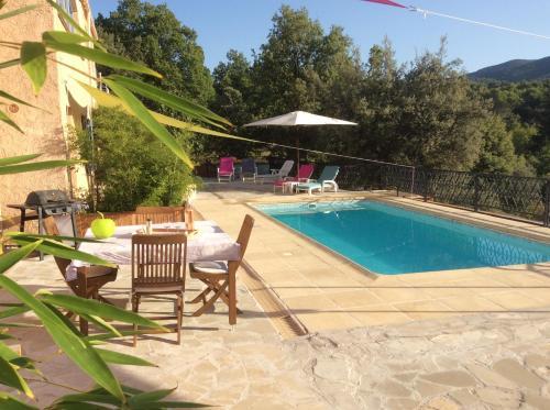 The swimming pool at or near La Rabasse de Gallinette