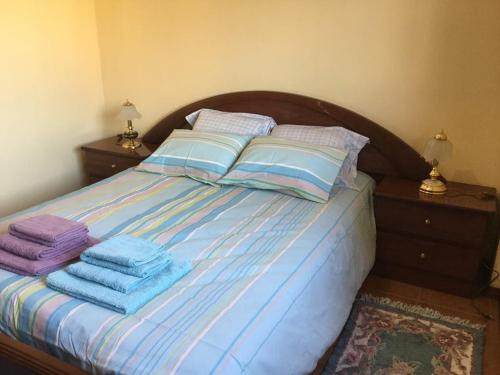 A bed or beds in a room at Historic Downtown - Vila Real
