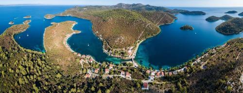 Pohľad z vtáčej perspektívy na ubytovanie Villa Augusta Pasadur