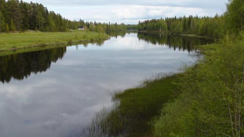 Utsikt över en sjö i närheten av detta B&B