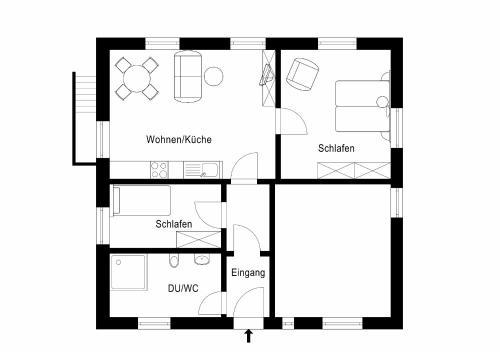 The floor plan of Tal-Residenz Erdgeschoss