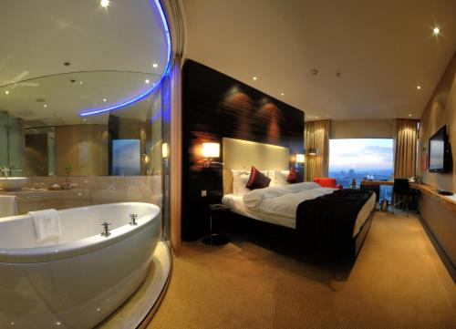 A bathroom at Grand Ankara Hotel Convention Center