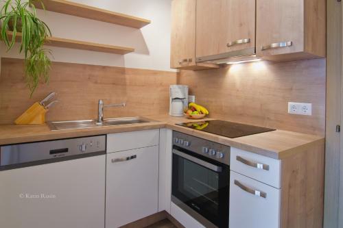 Küche/Küchenzeile in der Unterkunft Feichterhof