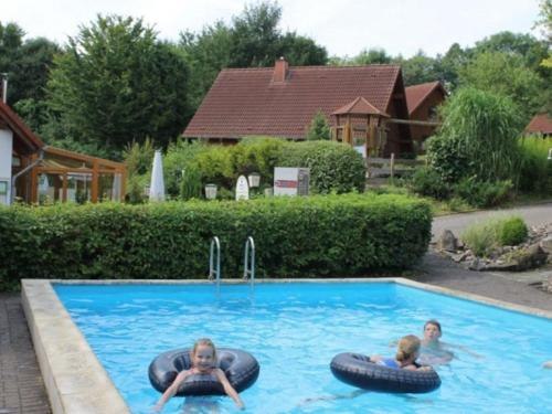 The swimming pool at or near Comfortable holiday home with 2 bathrooms, in the Bruchttal
