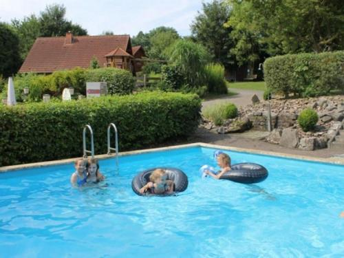 The swimming pool at or near Comfortable holiday home with oven, located in the Bruchttal