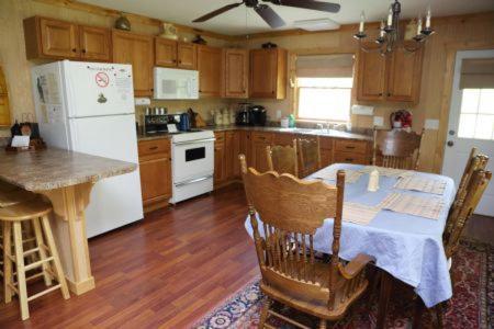 A kitchen or kitchenette at Lake Landing Cabin #53677