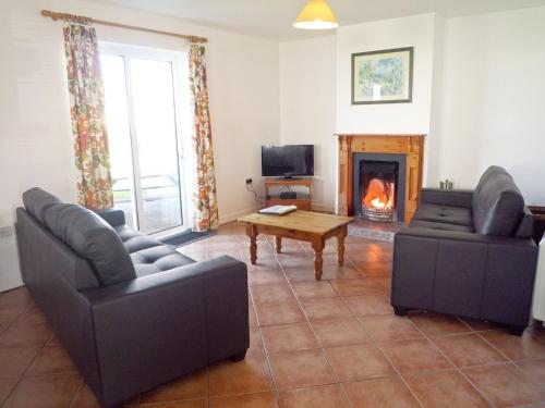 A seating area at Ballybunion Holiday Cottages