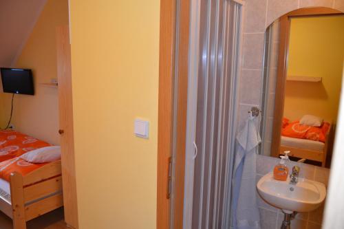 Koupelna v ubytování Ubytování v soukromí Olomučany