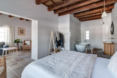 Postel nebo postele na pokoji v ubytování Mezi plutky