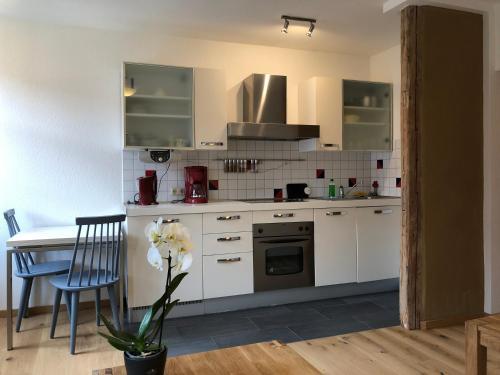 Küche/Küchenzeile in der Unterkunft Stella Apartments am Erfurter Dom