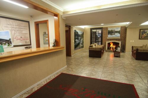 The lobby or reception area at Hotel San Lucas